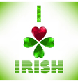 I love irish vector image