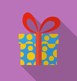 Icon of Christmas Gift Flat style vector image vector image