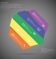 Infographic template with askew divided hexagon to vector image vector image