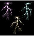 lightning flash light vector image