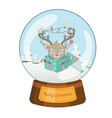 lovely snowglobe with a christmas scene vector image vector image