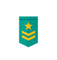 military rank icon two stripes and star vector image vector image