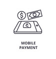 mobile payment line icon outline sign linear vector image vector image