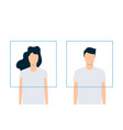 modern avatars man and woman flat design vector image