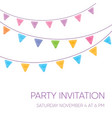 modern party invitation card vector image vector image
