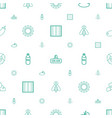 nature icons pattern seamless white background vector image vector image