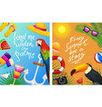 nautical summer cards marine vacation on the vector image vector image