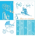 new baby items set vector image vector image