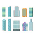 office buildings isolate on white vector image