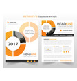 orange abstract circle annual report brochure vector image vector image