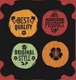 original style grunge labels with flowers vector image vector image