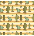 pattern of cacti Linear vector image vector image