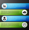Progress icons for four steps vector image vector image