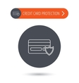 Protection credit card icon Shopping sign vector image vector image