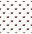 red accordion pattern vector image vector image
