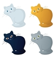 Red cartoon cat set vector image vector image