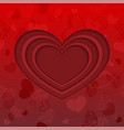 red cut paper heart wallpaper vector image