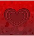 red cut paper heart wallpaper vector image vector image
