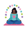 relaxation concept woman meditation in yoga pose vector image