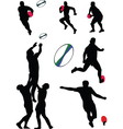 rugby collection vector image vector image