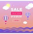 sale banner template design web banner with hot vector image vector image