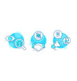 seo file headphones and augmented reality icons vector image vector image
