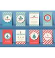 set christmas brochures in vintage style vector image