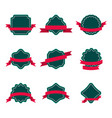 set of badge with ribbon vector image vector image