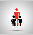 single dad with two children silhouettes simple vector image
