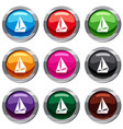 small yacht set 9 collection vector image vector image