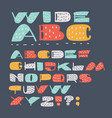 stylized colorful font vector image