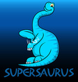 Supersaurus cute character dinosaurs vector image vector image