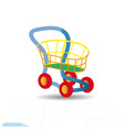 toy cartoon shopping cart icon colorful design vector image