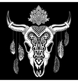 Tribal animal skull vector image