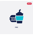 two color free icon from fast food concept vector image vector image