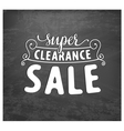 Typographical Sale Design Element in Vintage Style vector image vector image