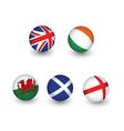 united kingdom flag set vector image vector image