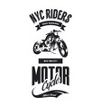 vintage bikers club t-shirt logo vector image vector image