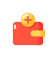 wallet app flat color icon vector image