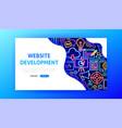 website development neon landing page vector image vector image