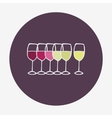 Wine glasses icon Red white and rose wine
