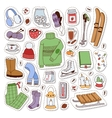 Winter icons patches vector image
