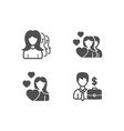 women headhunting love and couple icons vector image