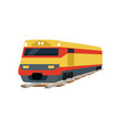 yellow cargo railway train locomotive vector image vector image