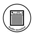 Audio monitor icon vector image