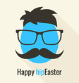 Hipster egg vector image