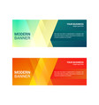 abstract design banner template horizontal banner vector image vector image