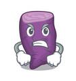 angry purple sweet potato in mascot basket