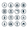 architecture icons universal set vector image vector image
