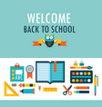 back to school background with study theme icons vector image